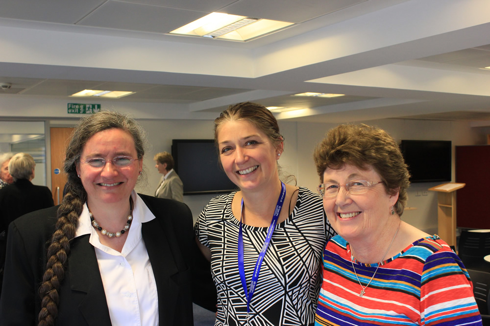 Jo Murrey,Vice-Chair, Michelle Bennett outgoing sec'y with Elspeth Richards, Chair